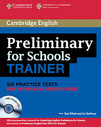 Учебник Cambridge English: PET for Schools Trainer Practice Tests with answers, Teacher's Notes and Audio CDs