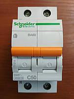 Автоматический выключатель ВА63 1полюс+N 50А  Schneider Electric серия Домовой