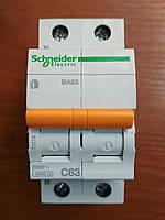 Автоматический выключатель ВА63 1полюс+N 63А  Schneider Electric серия Домовой