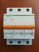 Автоматический выключатель ВА63 3 полюса 10А  Schneider Electric серия Домовой