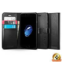 Книжка - Чехол Spigen для iPhone 8 / 7 Wallet S, Black , фото 1