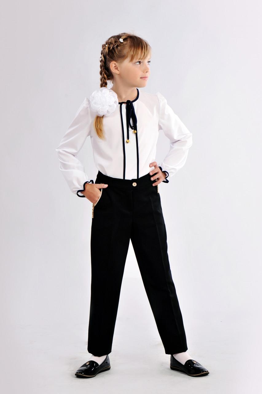 Модные школьные брюки на девочку