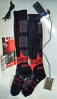 """Термо гетры с подогревом для лыжников """"Eco-obogrev Ski-Silver +PowerBank 6800mAh антибактериальные"""