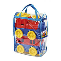Дитячий потяг з пасажирським вагончиком Юніка, іграшка для дітей