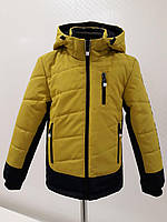 Детская демисезонная куртка для мальчика Самир горчичного цвета dfcae12d0e6ea