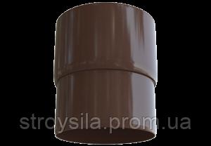 Муфта трубы ПВХ коричневая