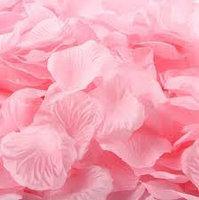 Искусственные лепестки роз розовые 50 г/упак.