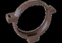 Хомут трубы ПВХ коричневый(в сборе)