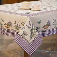 Скатерть гобеленовая Испания Emilia Arredamento Лаванда и бабочки 140х180 см