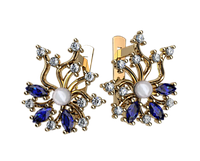 Золотые серьги