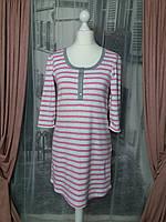 Платье для дома, ночная сорочка, сорочка для кормления, на кнопках, полоска.