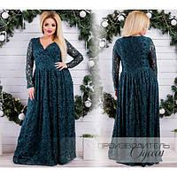 Шикарное вечернее платье батал из гипюра, р-ры 48-68 (разные цвета)
