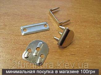 Крючки для одежды (пробивные) 20шт (НИКЕЛЬ ТЕМНЫЙ)