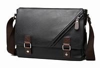 Стильная мужская сумка черная, фото 1