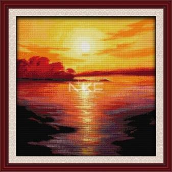 Закат на море F117 Набор для вышивки крестом