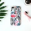 Чехол накладка на iPhone 6/6s фламинго с зебрами, плотный силикон