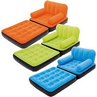 Надувное кресло-кровать с велюром  - разные цвета, фото 1