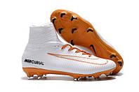 Футбольные бутсы Nike Mercurial Superfly V FG White/Chocolat (в стиле найк)