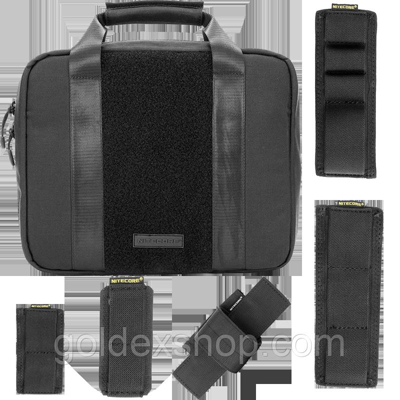 Сумка тактическая Nitecore NTC10 (Cordura 1050D) + комплект модульных карманов (5шт.), черная
