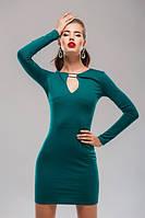 Платье зеленое в обтяжку