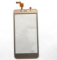 Оригинальный тачскрин / сенсор (сенсорное стекло) для Leagoo M5 Plus (золотой цвет), фото 1