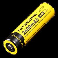Аккумулятор литиевый Li-lon18650 Nitecore NL186  3.7V (2600 mAh), защищенный, фото 1
