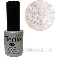 TERTIO гель - лак № 183(белая ночь с блестками)10 мл