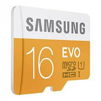 Карта памяти microSD SAMSUNG (EVO) 16 Gb, class U1 / 48MB/s