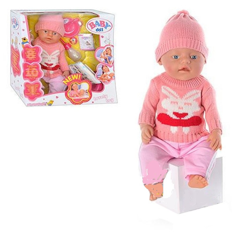 "Кукла-пупс Беби Борн ""Baby Born"", (Вaby Born-копия) зима кролик, 8001-7, 9 функций"