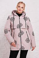 Женская демисезонная куртка Розочка (размеры 50-64)