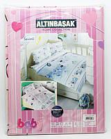 Комплект постельного белья в детскую кроватку (110х150/35х45)