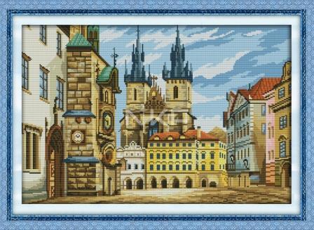 Набор для вышивания крестом NKF Город Краков 14ст F238