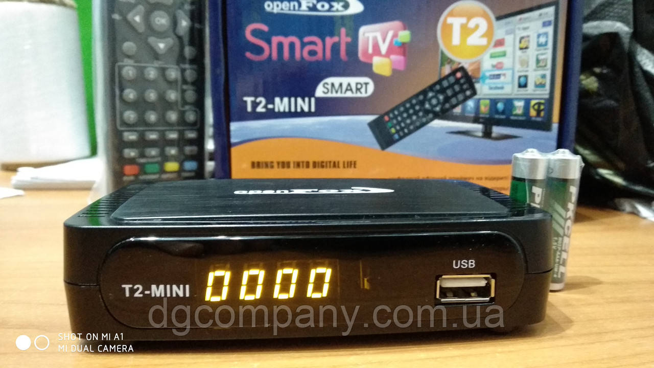 Тюнер Т2 OpenFox Т2 mini Smart-2(з годинником)