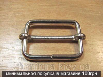 Регуляторы для сумок (30мм) никель, 20шт 4186