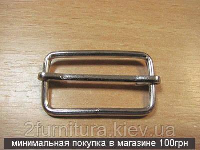 Регуляторы для сумок (30мм) никель, 20шт 4189