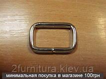 Рамки для сумок (25мм) никель, 20шт 4140