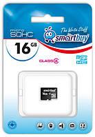 Карта памяти microSDHC, 16Gb, Class4, SmartBuy, без адаптера (SB16GBSDCL4-00)