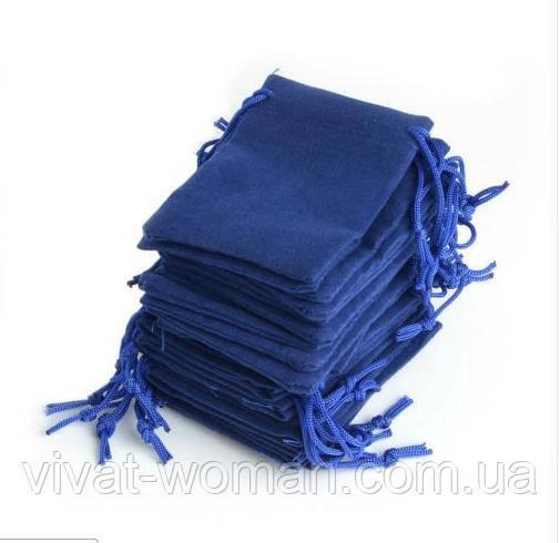 Мешочки ювелирные, бархат синий 5х7 см, 1 шт.