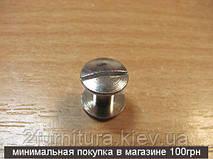 Винты для ремня (6мм) никель, 10шт 5075