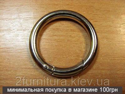 Кольцо-карабин (34мм) никель, 2шт 5199