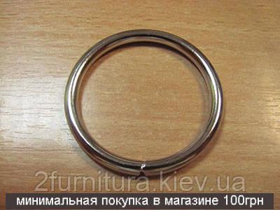 Кольца для сумок (36мм) никель, 10шт 4335