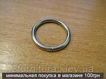 Кольца для сумок (20мм) никель, 10шт 4342