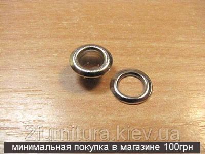Люверсы (5мм, №3) никель, 400шт 5043