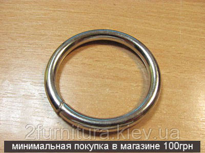Кольца для сумок (38мм) никель, 4шт 4330