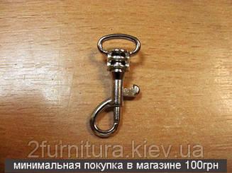 Карабины для сумок (10мм) никель, 10шт 4033