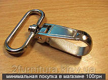 Карабины для сумок (40мм) никель, 2шт 4014