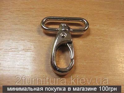 Карабины для сумок (25мм) никель, 4шт 4018