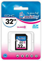 Карта памяти SDHC, 32Gb, Class10, SmartBuy (SB32GBSDHCCL10)