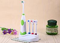 Зубная Щетка на Батарейках Electric Brush+3 сменные насадки