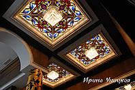 Потолок из художественного стекла